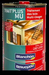 Trait Plus MU Blanchon 5L - Traitement des bois Multi-Usages très haute efficacité destiné à la protection curative et préventive de toutes boiseries extérieures et intérieures.