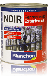 Peinture Noir Ferronnerie Blanchon-750ml peinture anti rouille