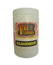Feu flammes le ramoneur de catachem pour du ramonage chimique non toxique.